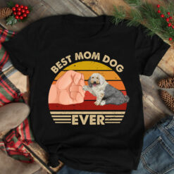 Best Mom Ever Shirt Vintage Best Old English Sheepdog Mom Ever