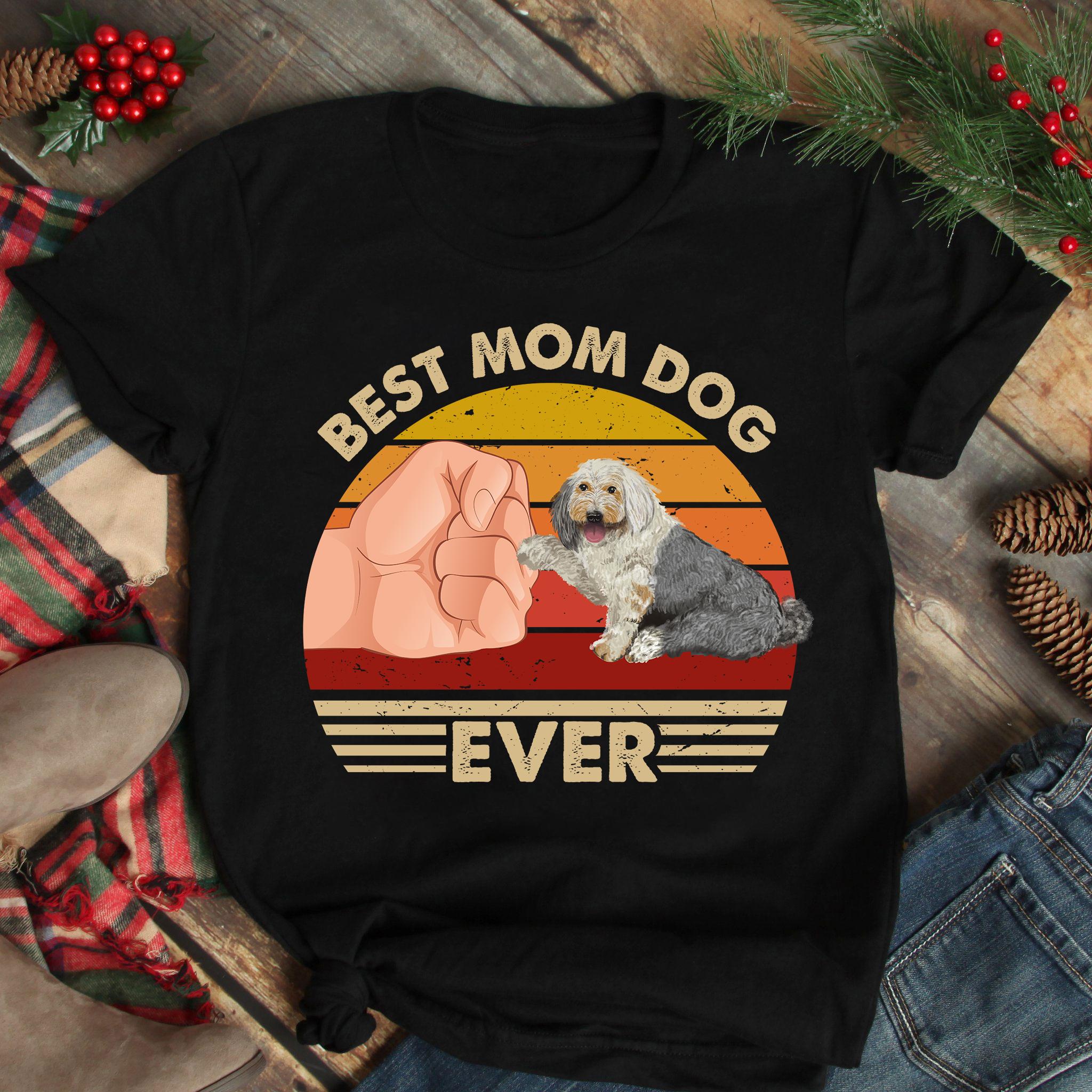 Best Mom Ever Shirt Vintage Best Old English Sheepdog Mom Ever