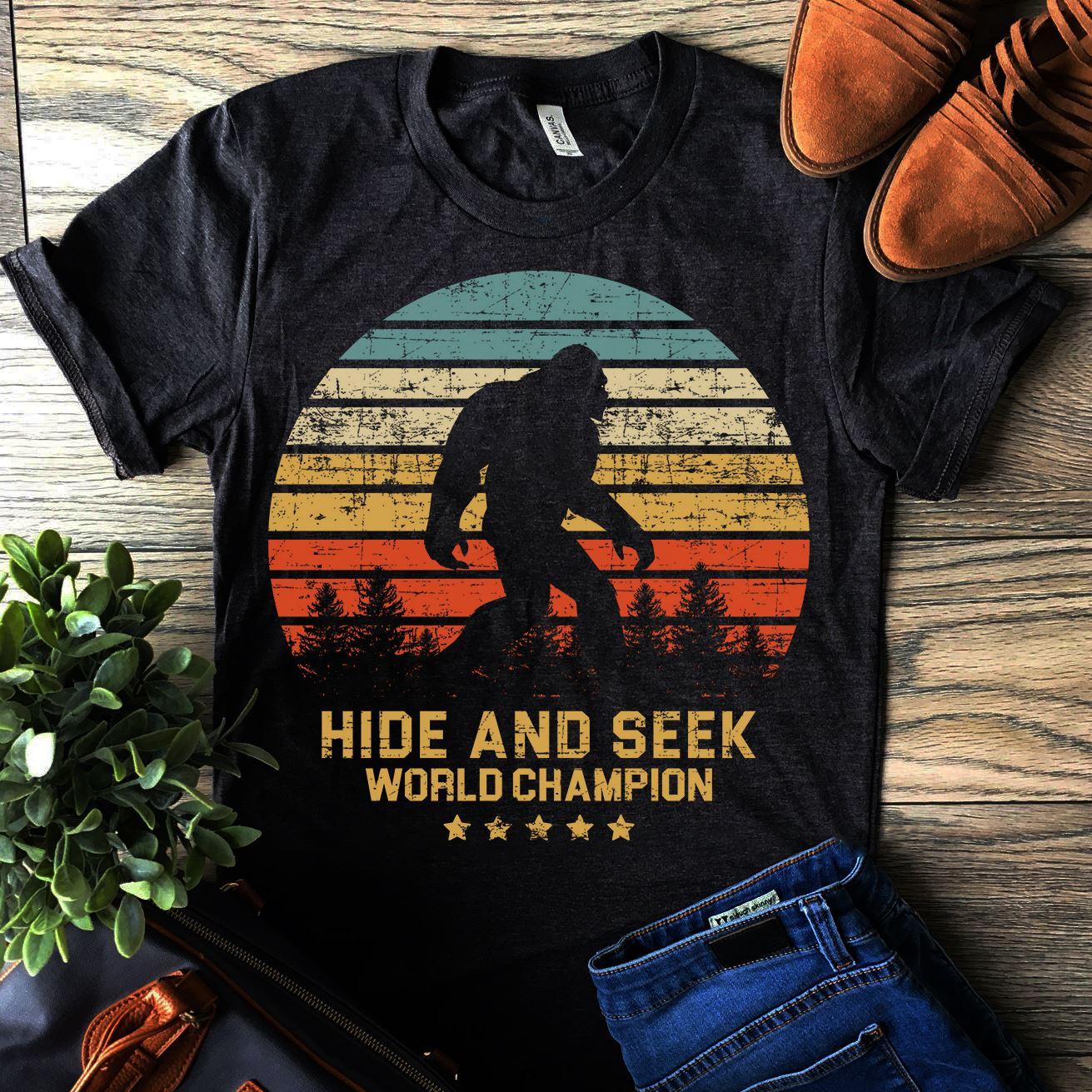 Big Foot Shirt Hide And Seek World Champion