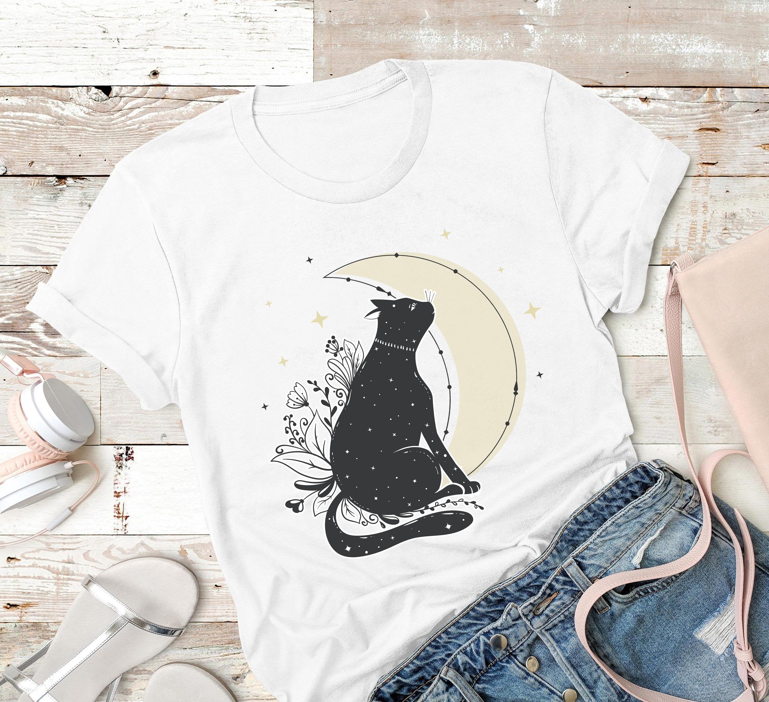Cat Shirt Cat And Crescent
