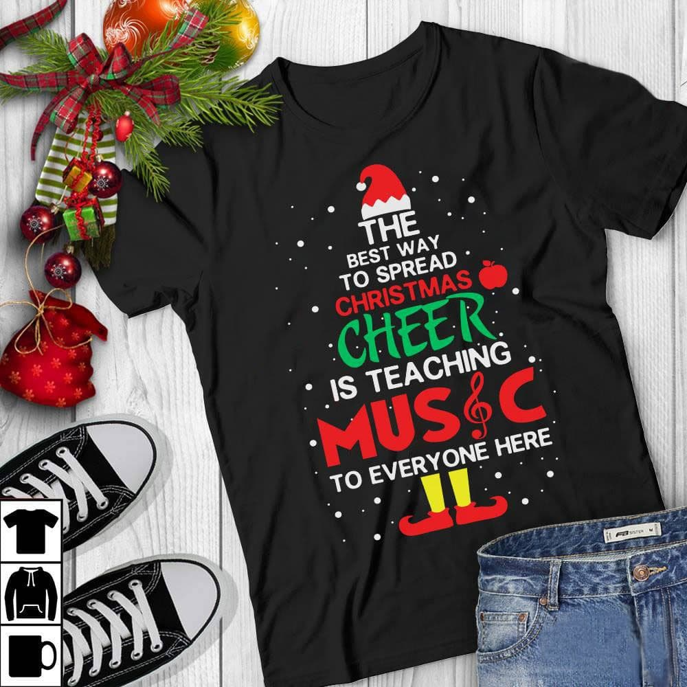 Christmas Music Teacher Shirt Spread Christmas Cheer