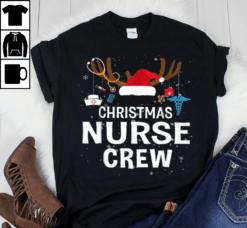 Christmas Nurse Shirt Nurse Crew Santa Hat Reindeer