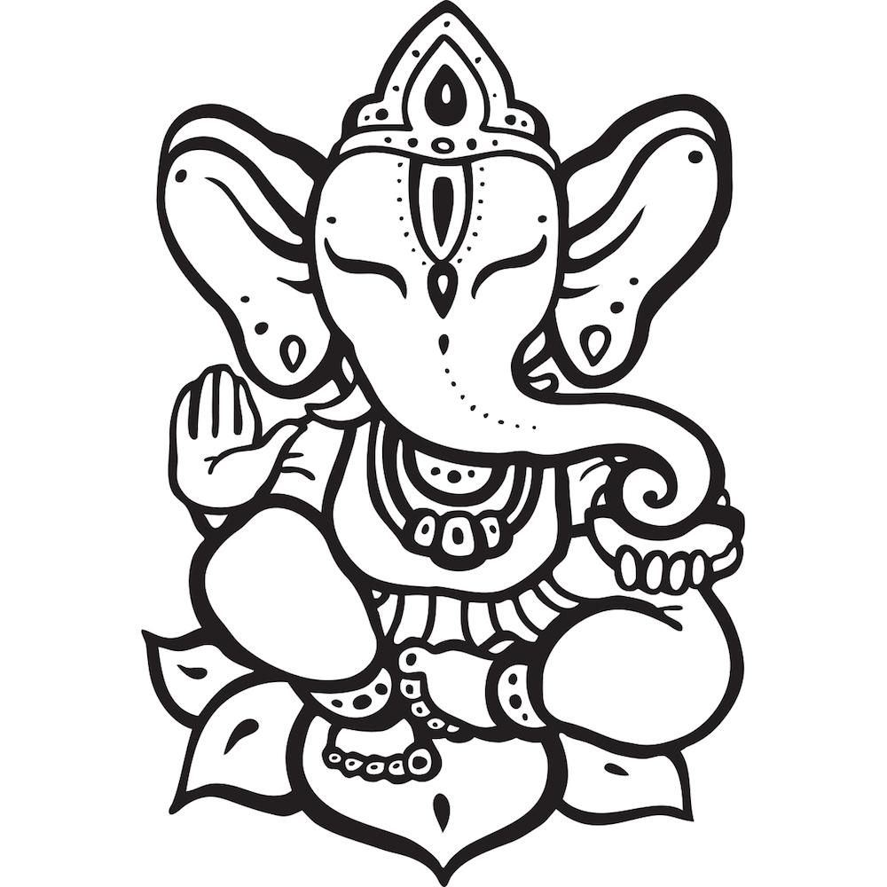 Ganesh common yoga symbol