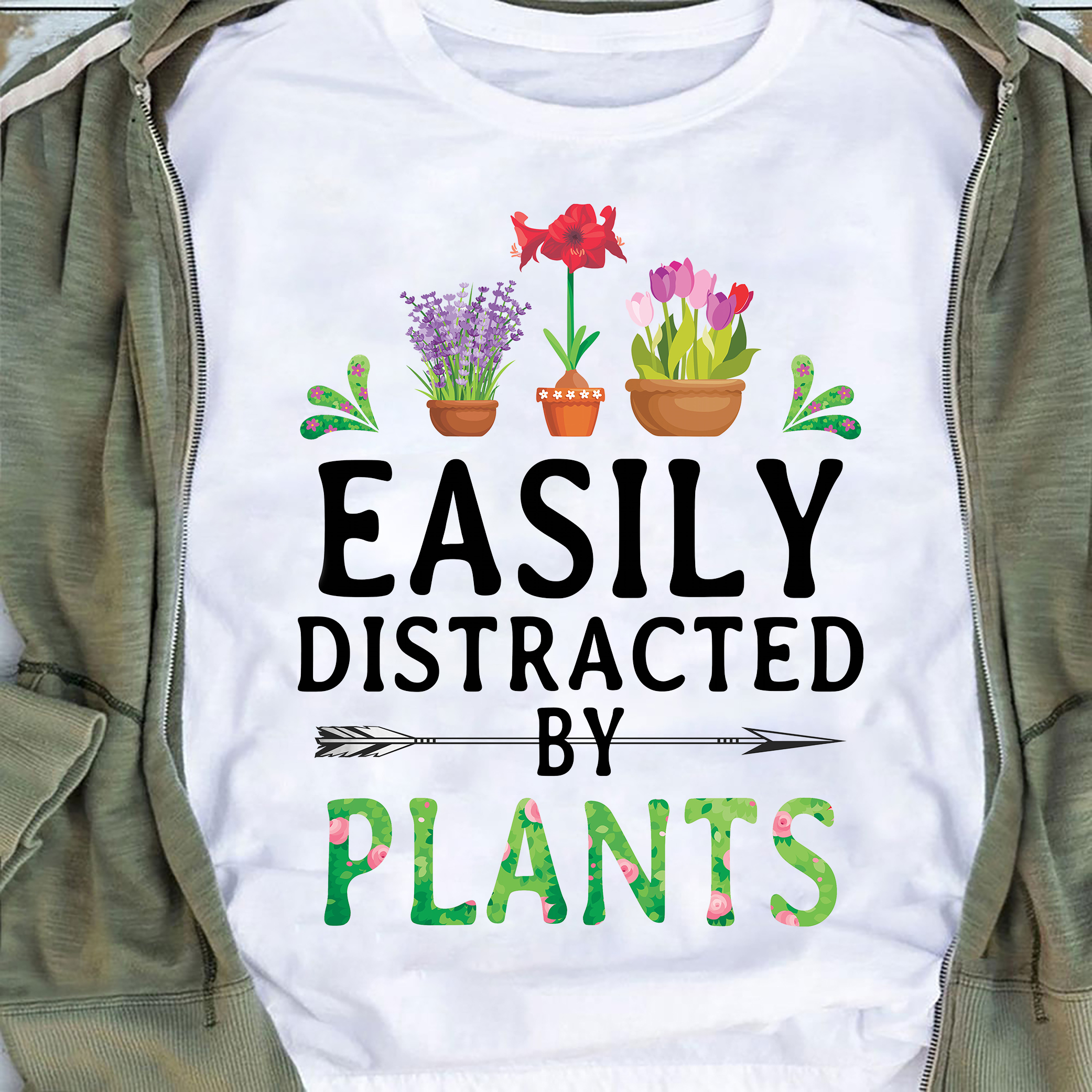Garden Shirt Easily Distracted By Plants