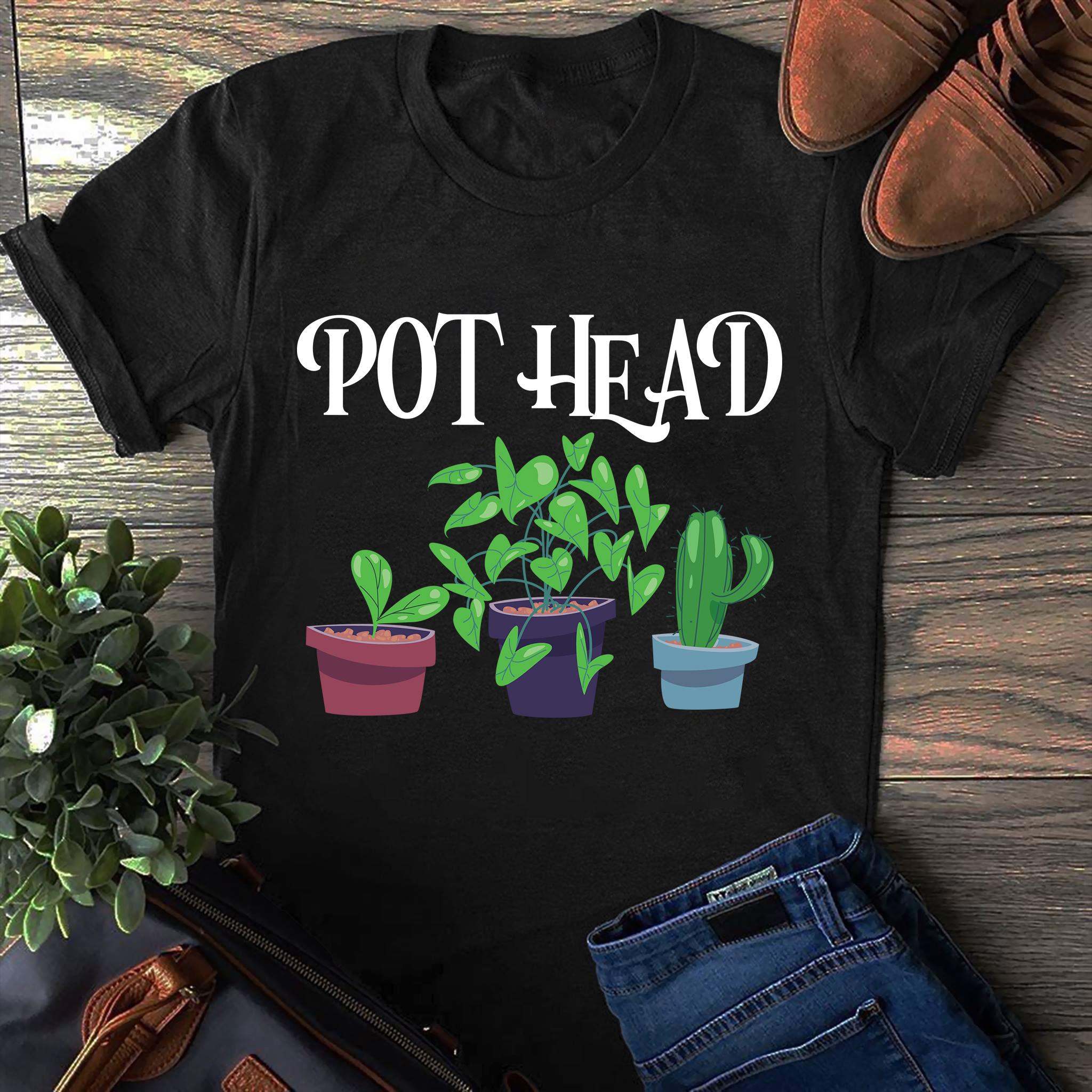 Garden Shirt Pot Head Plants