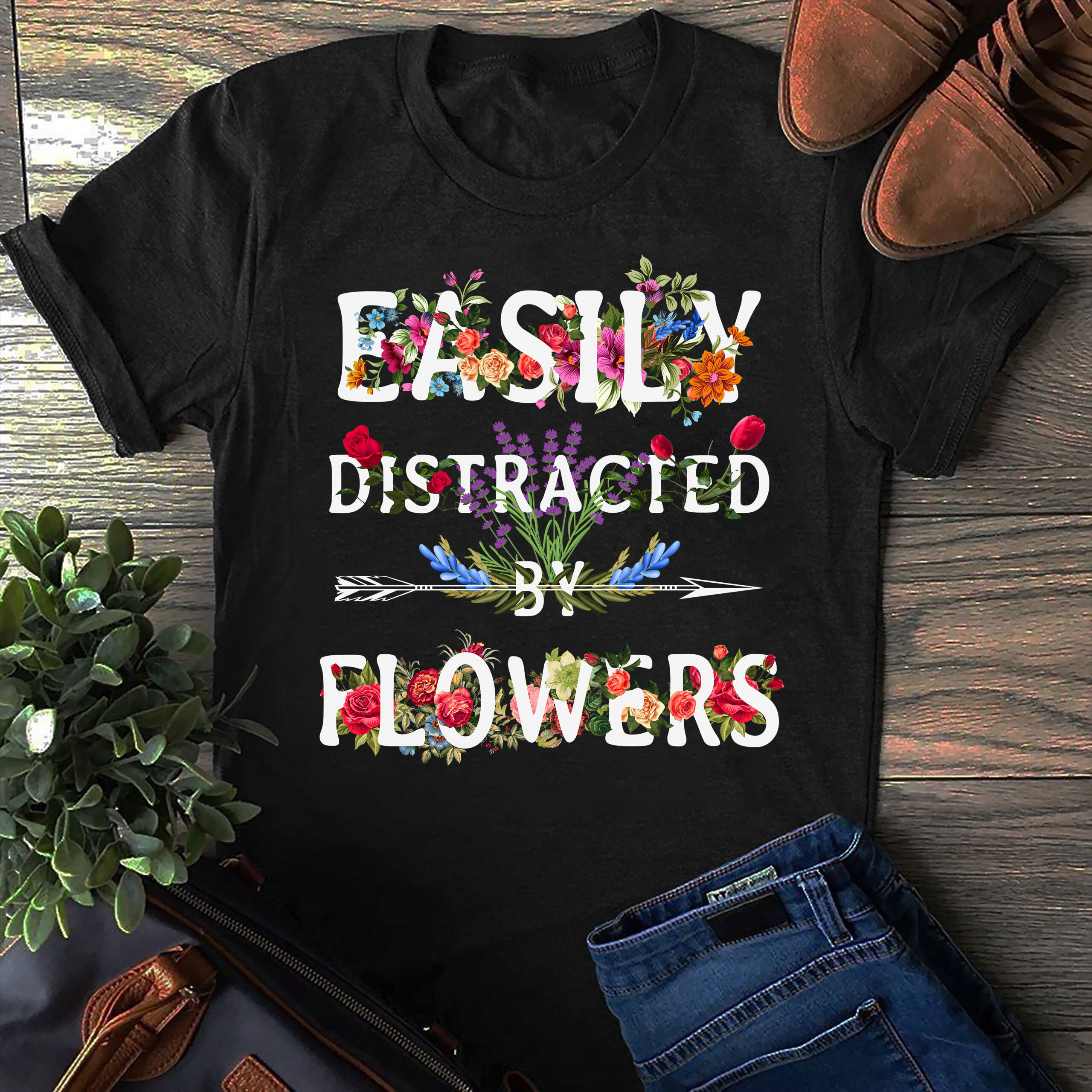 Gardener Shirt Easily Distracted By Plants