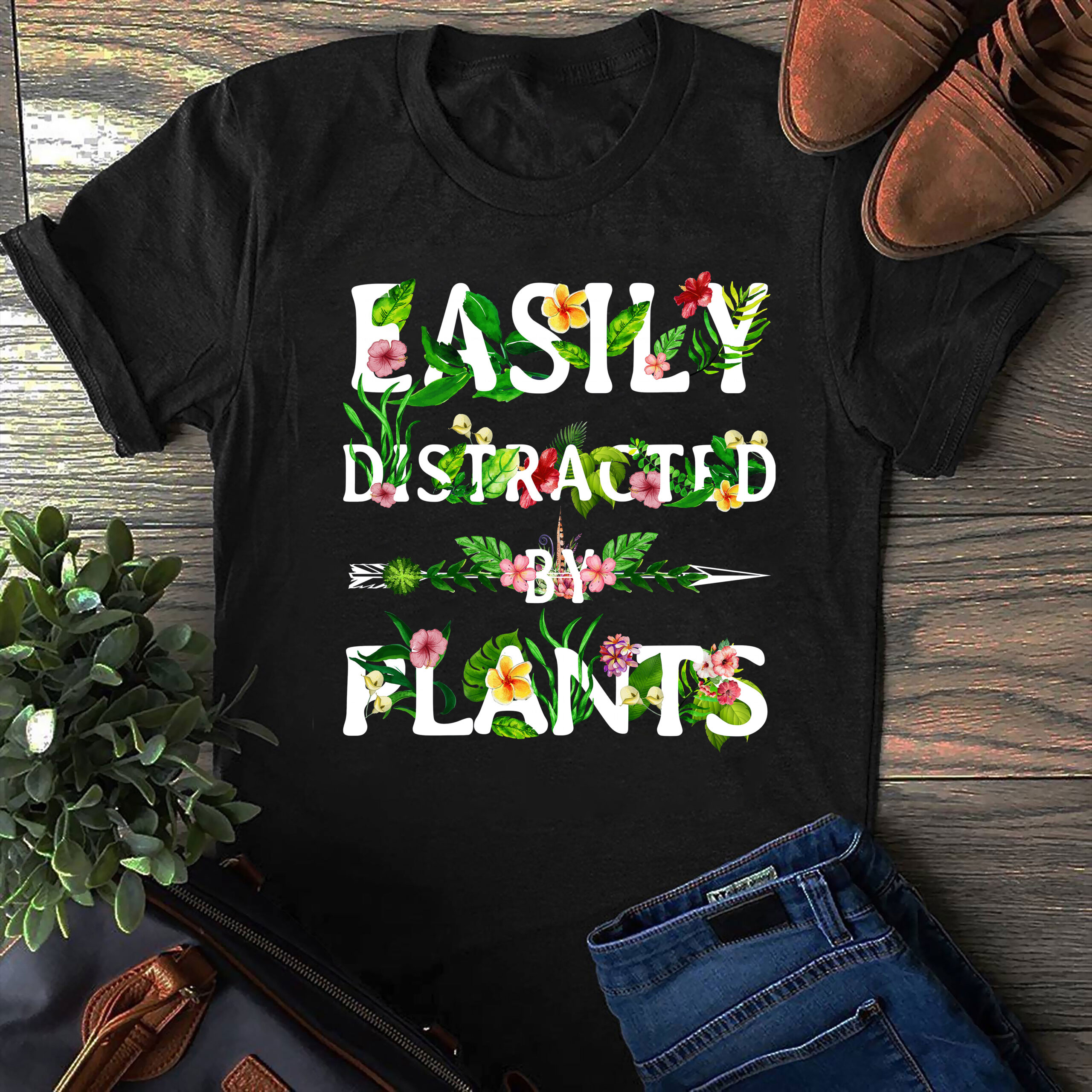 Gardening Shirt Easily Distracted By Plants