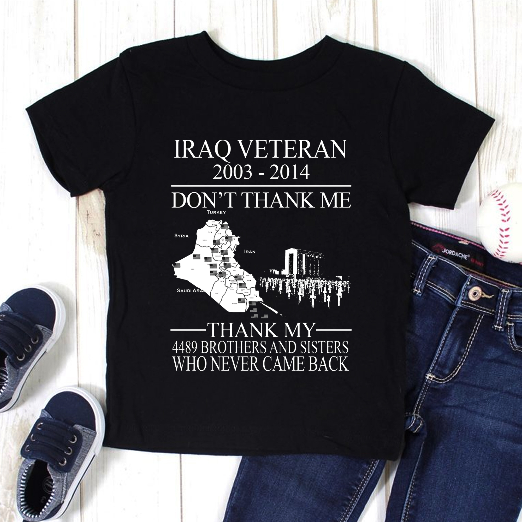 Iraq Veteran Shirt 2003-2014 Don't Thank Me
