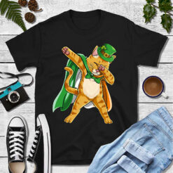 Leprechaun Dabbing Cat Shirt St Patrick Day