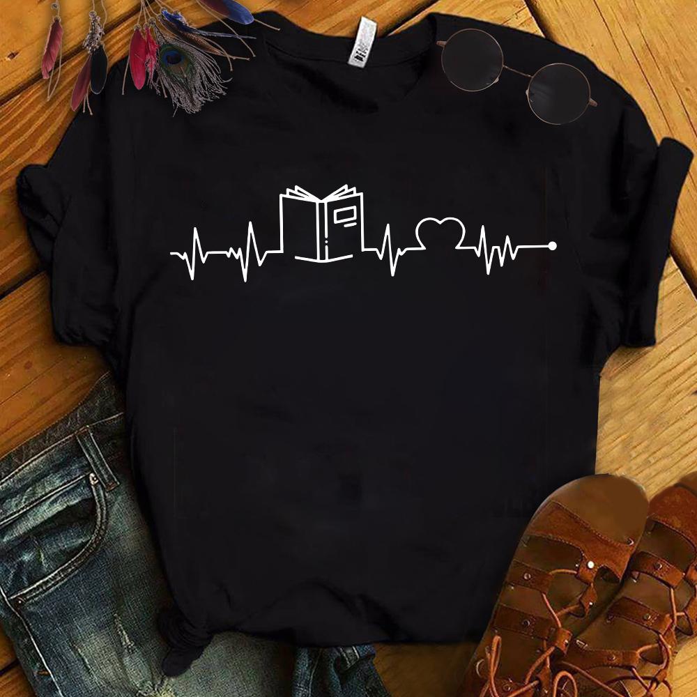 Librarian Shirt Book Heartbeat