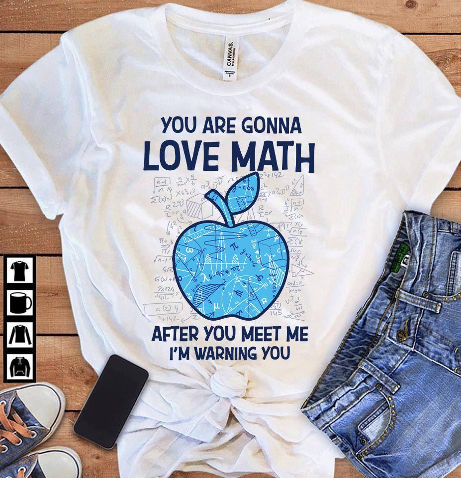 Math Teacher Shirt You Gonna Love Math After You Meet Me