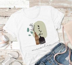 Minimalism Shirt Plants Garden