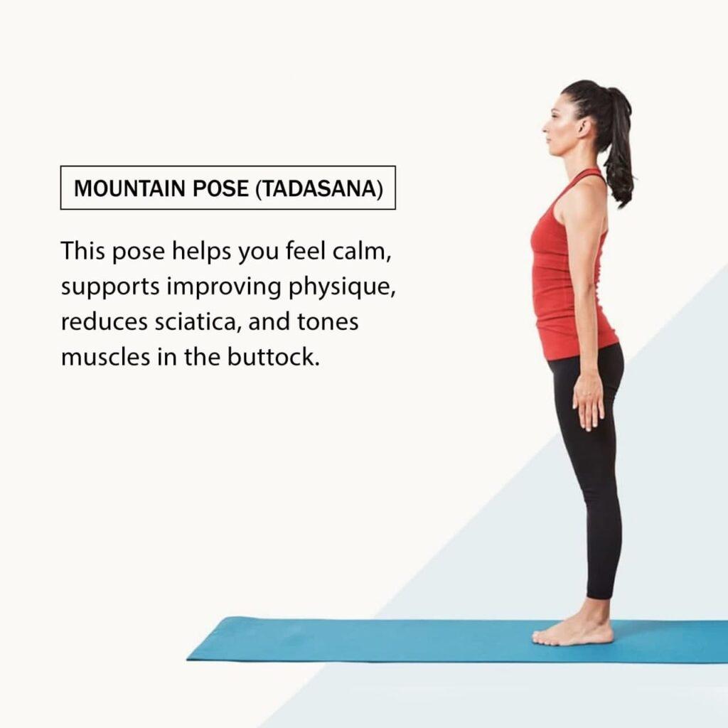 Mountain pose- types of yoga- yoga poses