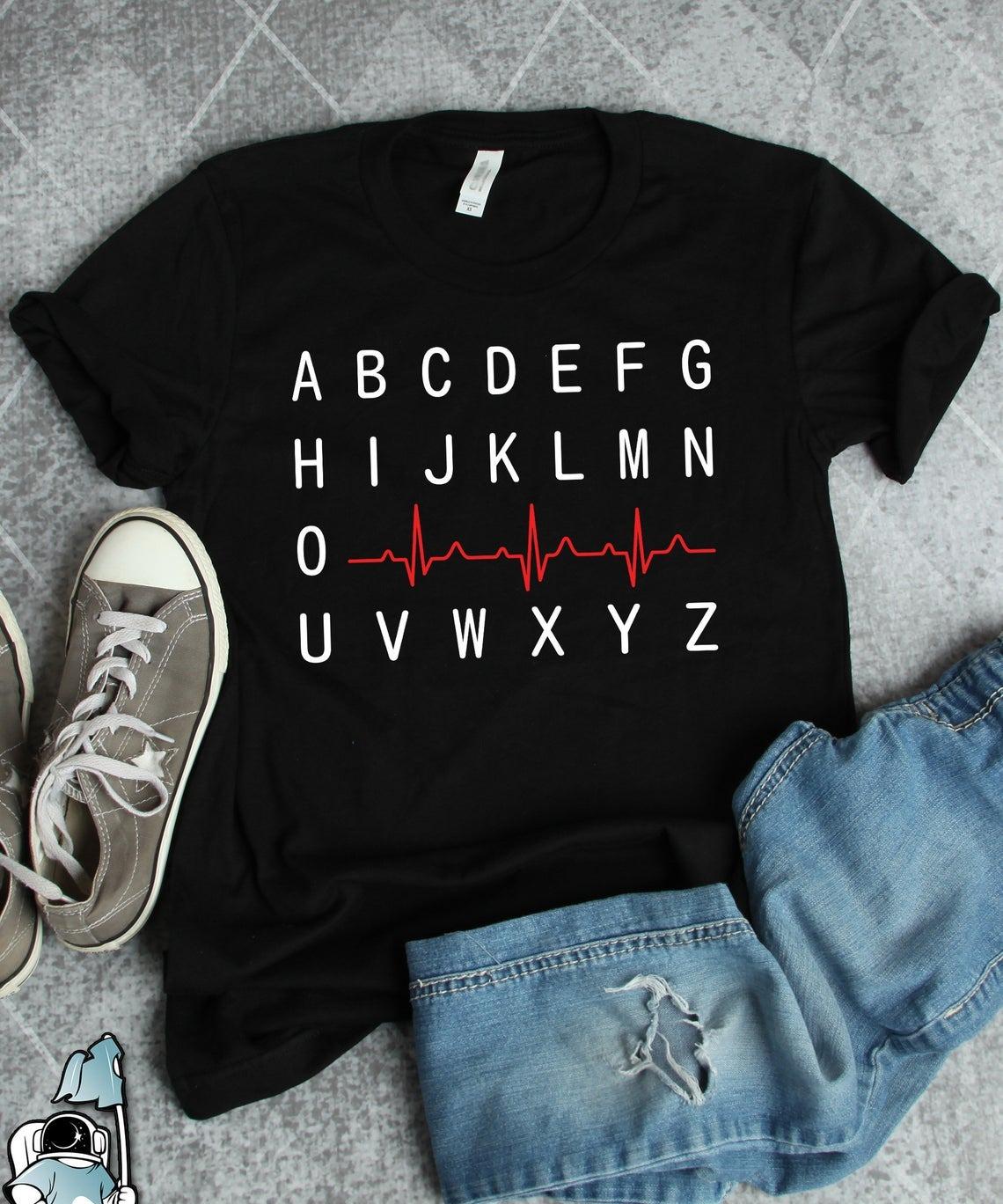 Nurse Life Shirt Alphabet