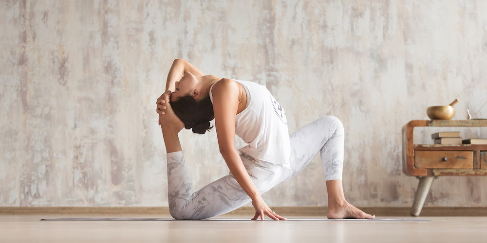 Practicing-yoga-to-achieve-all-the-benefits-of-yoga.