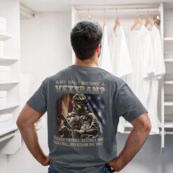 Skull Veteran Shirt Why Did I Become A Veteran