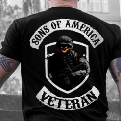 Sons Of America Veteran Shirt Skull