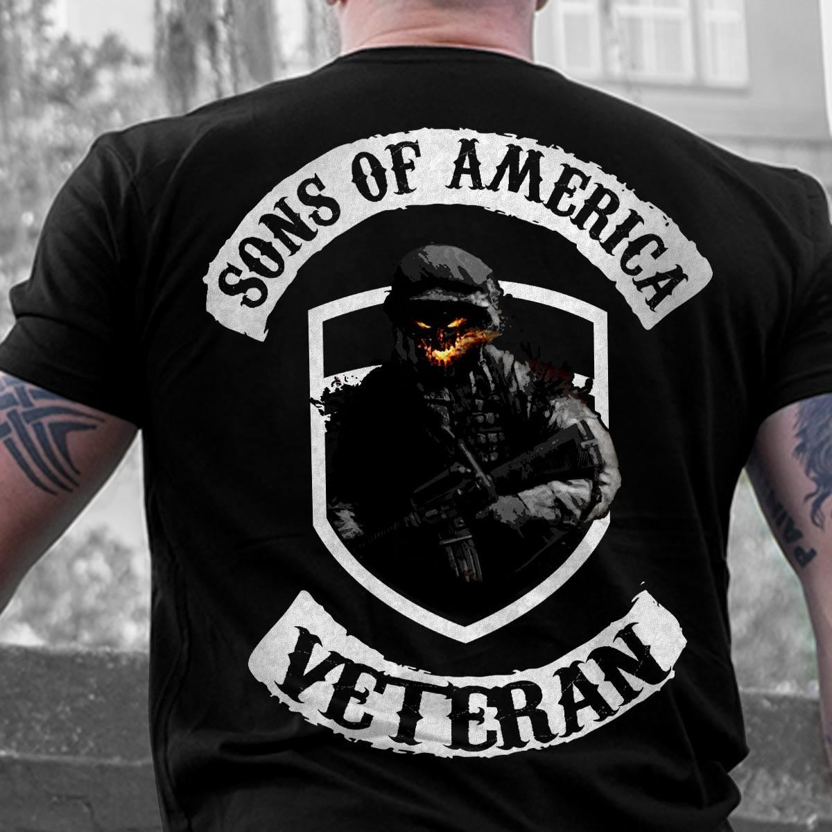 Sons Of America Veteran Shirt Skull
