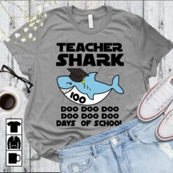 Teacher Shark Shirt Doo Doo Doo 100 Days Of School
