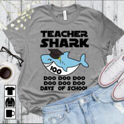 Teacher Shark Shirt Doo Doo Doo 100 Days Of School
