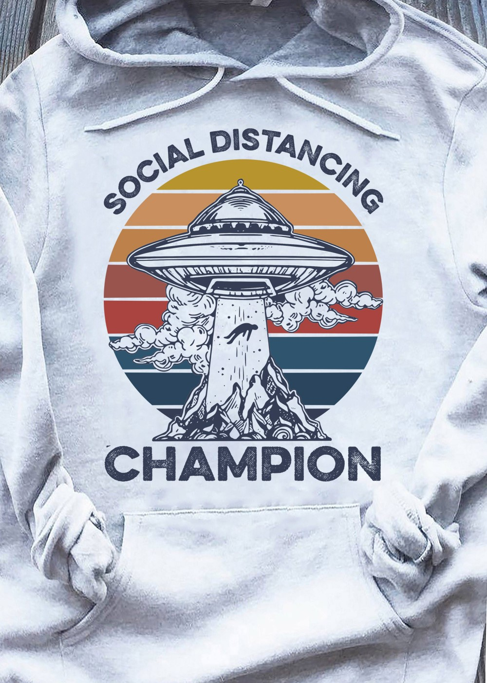 UFO Shirt Social Distancing Champion