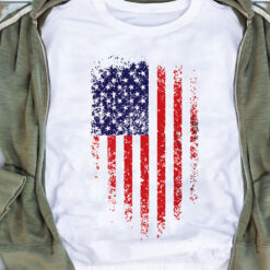 Veteran Shirt Distressed American Flag