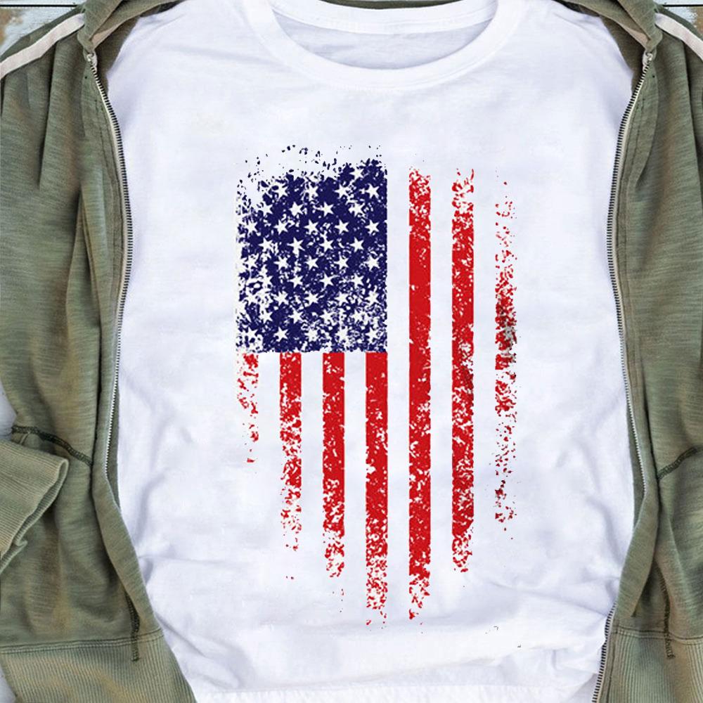 Veteran Shirt Distressed American Flag
