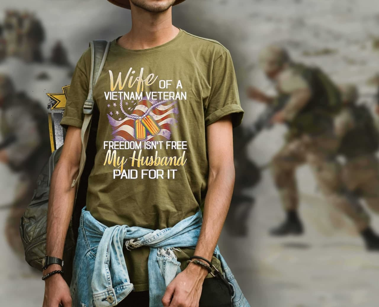Vietnam Veteran Wife Shirt Freedom Isn't Free
