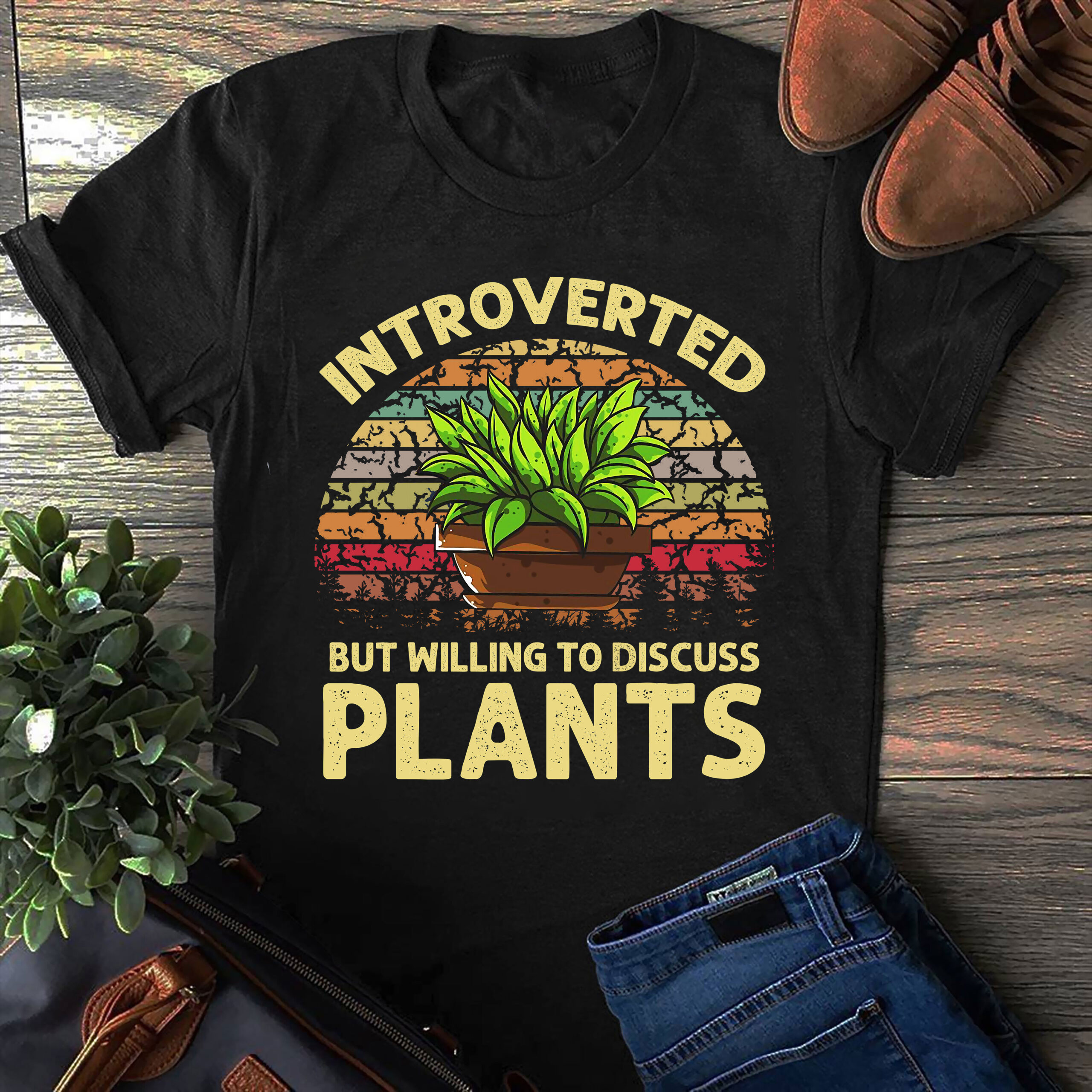 Vintage Garden Shirt Introverted Willing To Discuss Plants