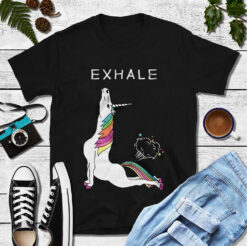 Yoga Shirt Unicorn Exhale Fart