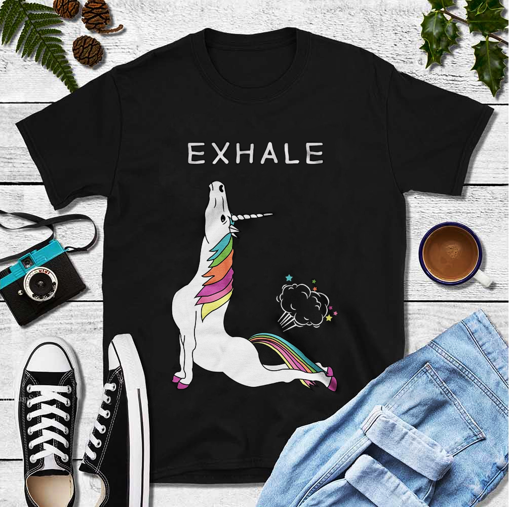 Yoga Shirt Unicorn Exhale Fart