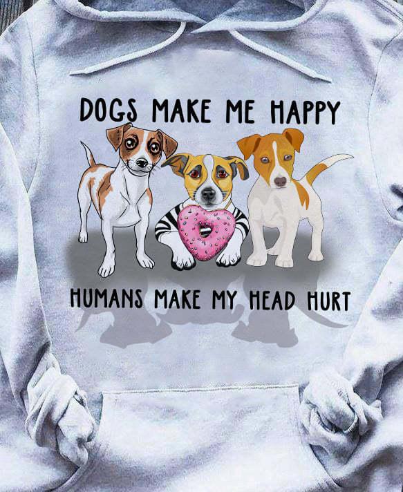 Beagle Dogs Make Me Happy Humans Make My Head Hurt Shirt