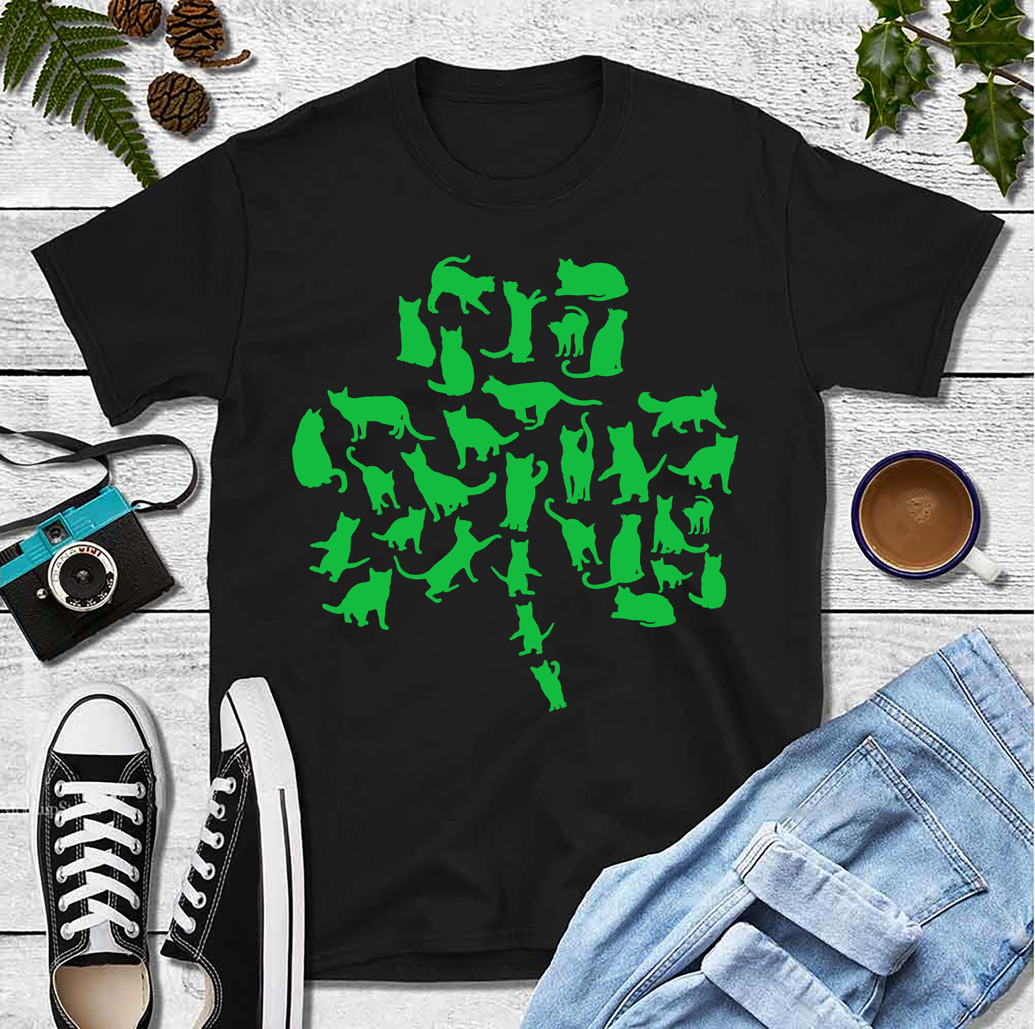 Cat Clover Shirt St Patrick Day