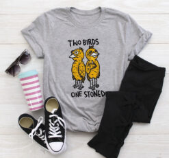 Funny Two Birds One Stoned Shirt