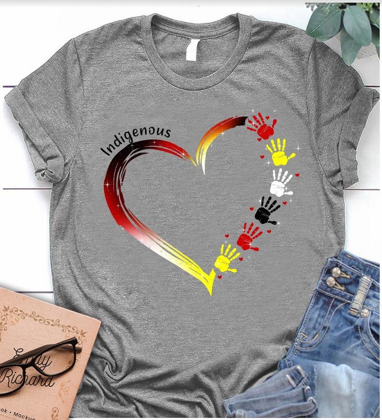 Indigenous Hand Heart Shirt