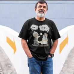 Pythagoras Fights Einstein Science Laboratory Shirt