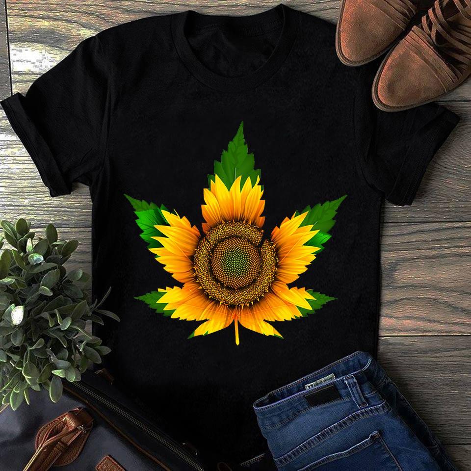 Sunflower Cannabis Leaf Shirt