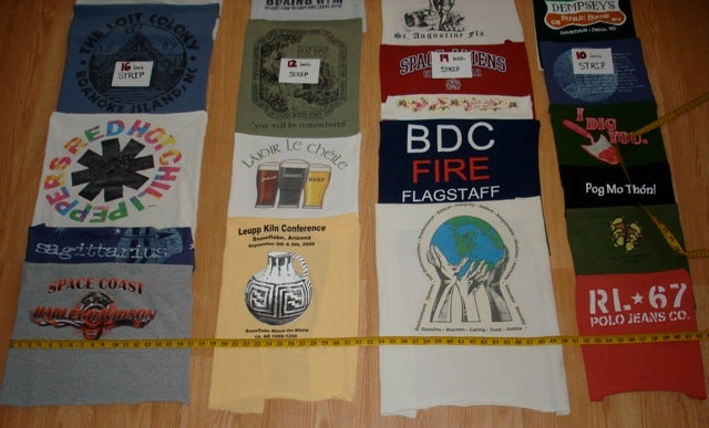 An simple instruction on how to make a t shirt quilt diy