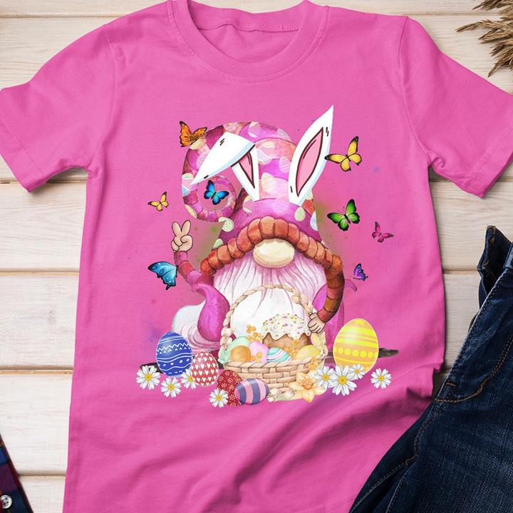 Gnome Bunny Easter Egg Basket Shirt
