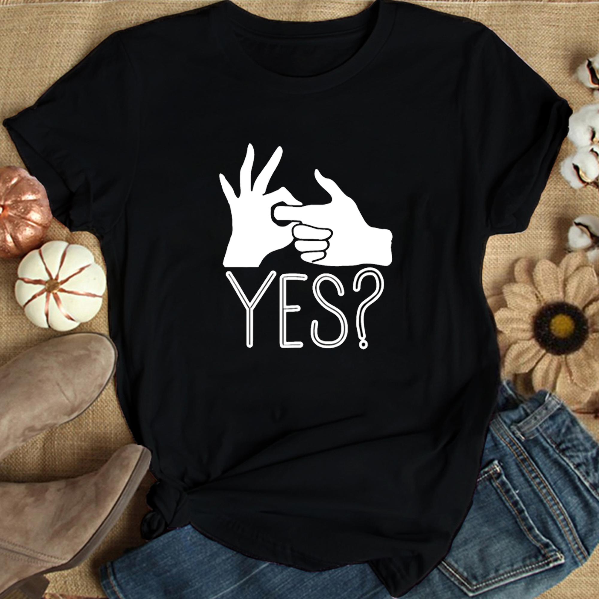 Obscene Lover Shirt YES Hand Gesture Sex