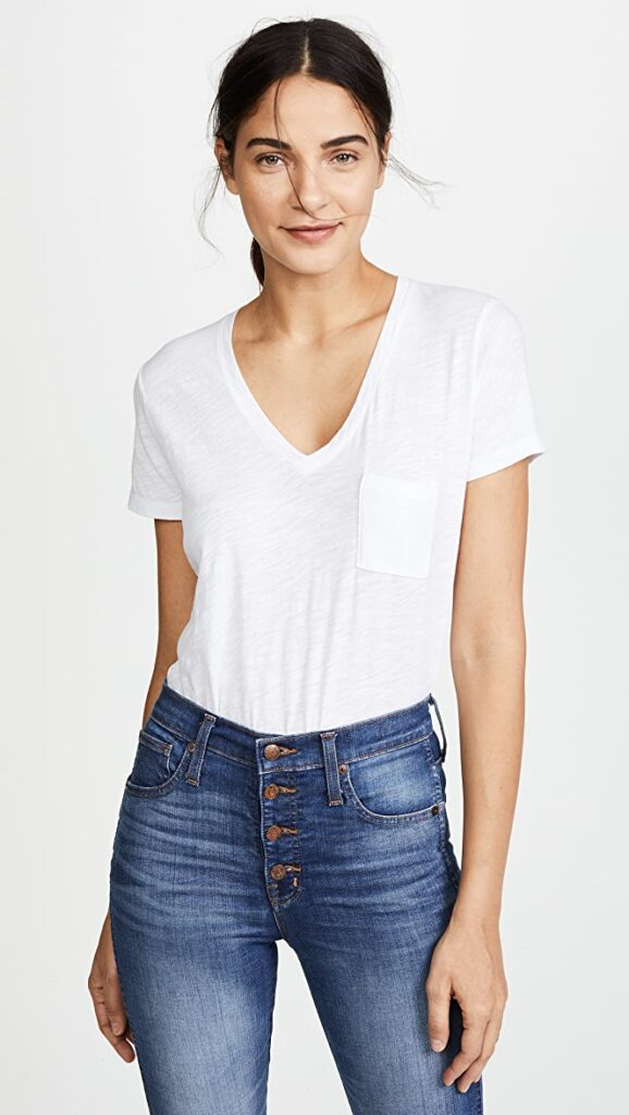 Whisper-Cotton-V-Neck-Pocket-Tee-best-white-tshirt-for-women