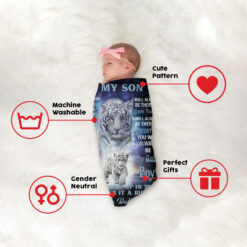 To My Son Blanket Tiger Dad And Son Fleece Blanket 1