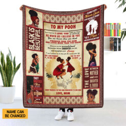 Black Mom Personalized Blanket Never Forget That I Love You