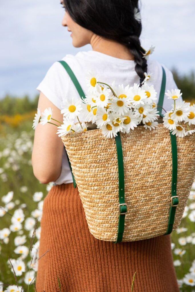 DIY Basket Backpack