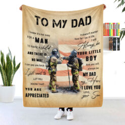 Firefighter Dad Blanket It's Not Easy For A Man To Raise A Child