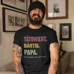 Tatowiert Bartig Papa Shirt