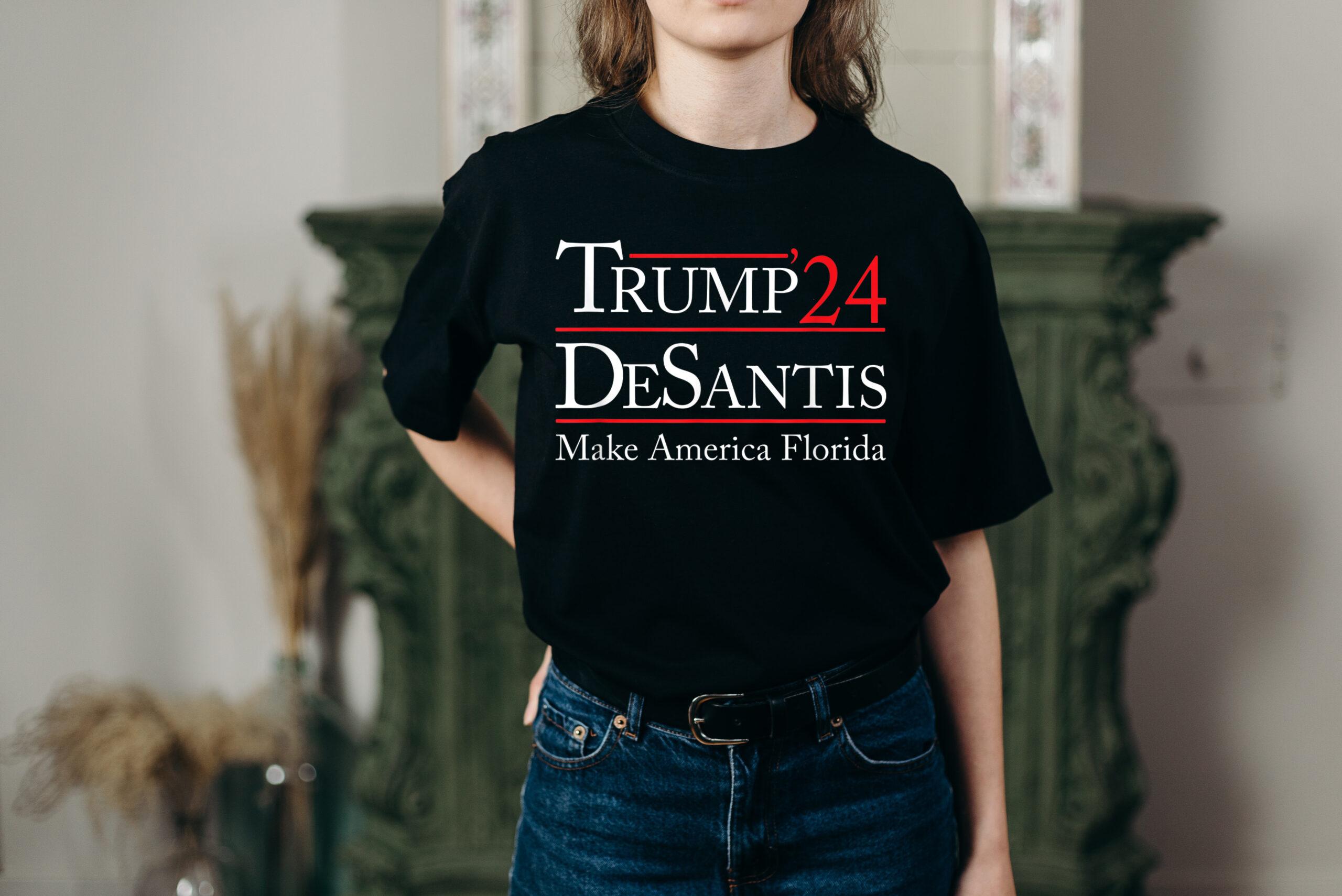 Trump 2024 Shirt Trump 24 Desantis Make America Florida