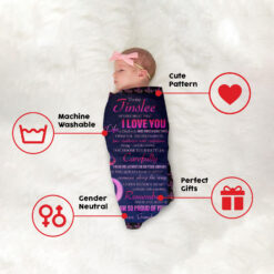 To My Granddaughter I'm Proud Of You Personalized Blanket