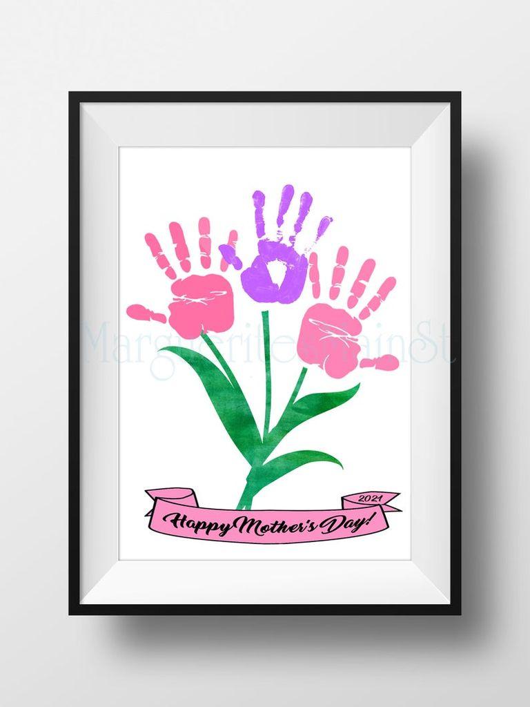 gift for mom flower art print