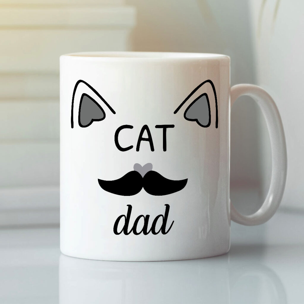 Cat dad mug what are gift ideas for dad